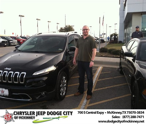 Thank you to Jeremy Wendel on your new 2014 #Jeep #Cherokee from George Rutledge and everyone at Dodge City of McKinney! #NewCar by Dodge City McKinney Texas