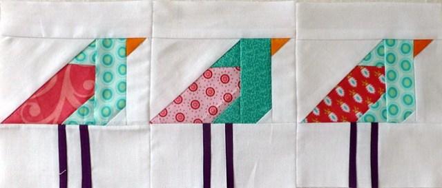 paper pieced birdies