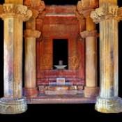 India - Madhya Pradesh - Khajuraho - Vishvanath Temple - Shiva Lingam - 35d