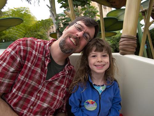 Dad, Daughter, Disneyland