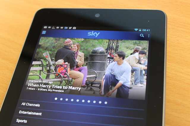 Sky Go on a Nexus 7