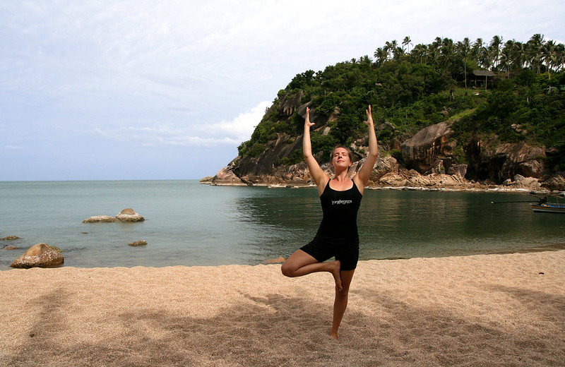 vrksasana (tree pose)