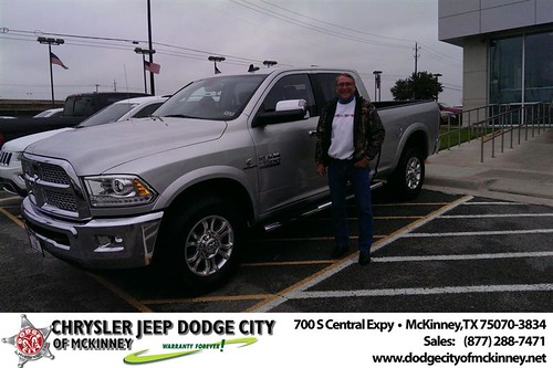 Thank you to Robert Switalski on your new 2014 #Ram #3500 from Joe Ferguson  and everyone at Dodge City of McKinney! #NewCarSmell by Dodge City McKinney Texas