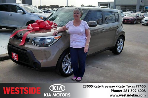 Thank you to Bertina Hayden on your new 2014 #Kia #Soul from Gil Guzman and everyone at Westside Kia! #NewCarSmell by Westside KIA