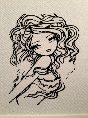 Mini Myra by Hannah Lynn - outlines finished