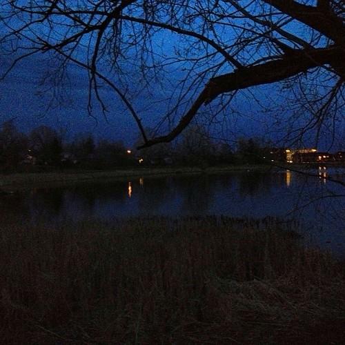 Night at the lake by @MySoDotCom
