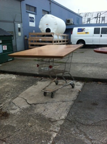 Mod shopping cart table