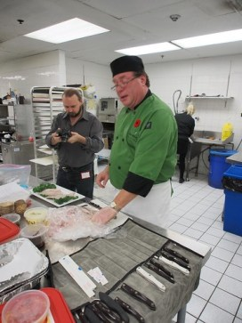 Gerry & Chef Neil in the prep kitchen