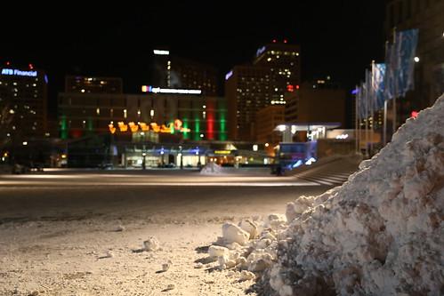 Snow Pile in Churchill Square