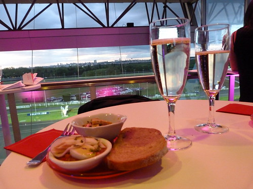 Champagne and Petit Fours at the track