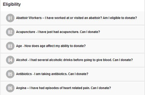 Australian Red Cross Blood Service's Frequently Asked Questions
