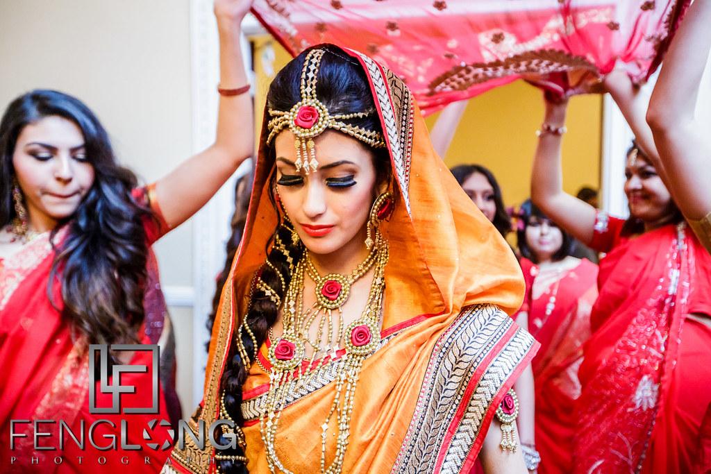 Bride's entrance during mehndi night