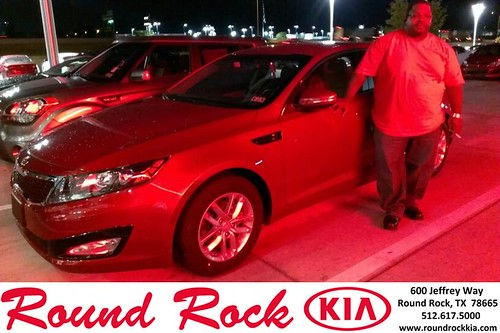 Thank you to Gary Lewis on your new 2013 Kia Optima from Ruth Largaespada and everyone at Round Rock Kia! by RoundRockKia