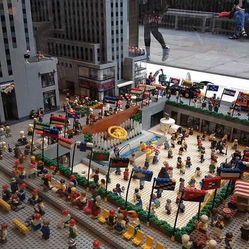 Rockefeller Plaza แบบเลโก้