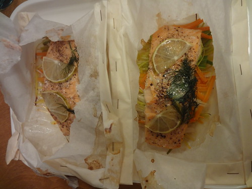 salmon: saumon en papillote by the james kitchen