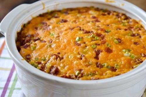 Bacon-Cheddar Corn Pudding-7