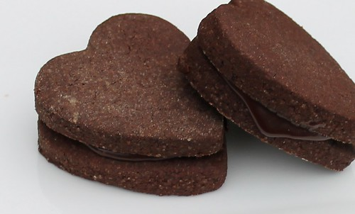 bitter chocolate biscuits with genache filling 2