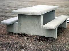concrete style picnic table