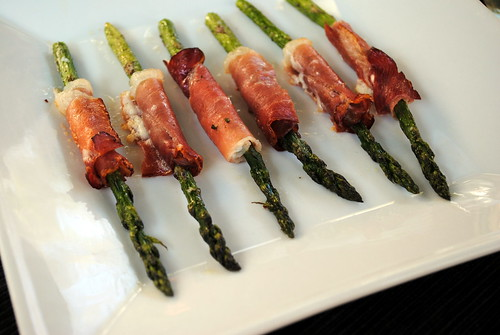 Prosciutto & Goat Cheese Wrapped Asparagus