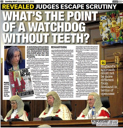 What's the point of a watchdog without teeth - Sunday Mail 22 September 2013