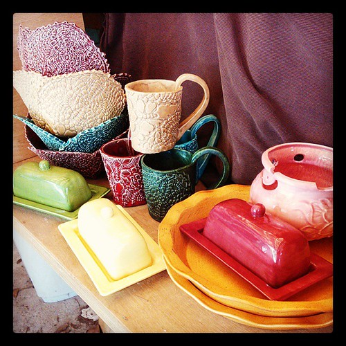 Fresh from the HaldeKiln #kiln #ceramics #handbuilt #slipcast