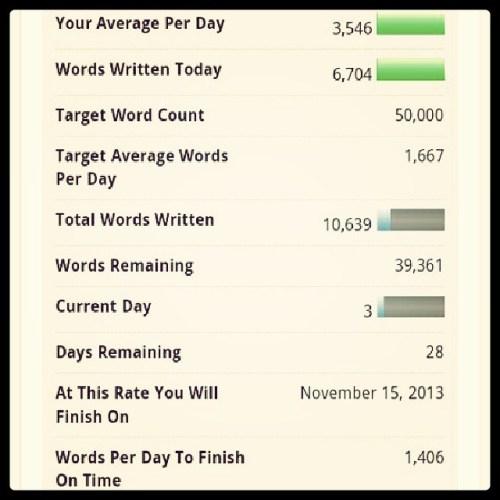 #NaNoWriMo #10k #Day03 #notwriting #localwritein