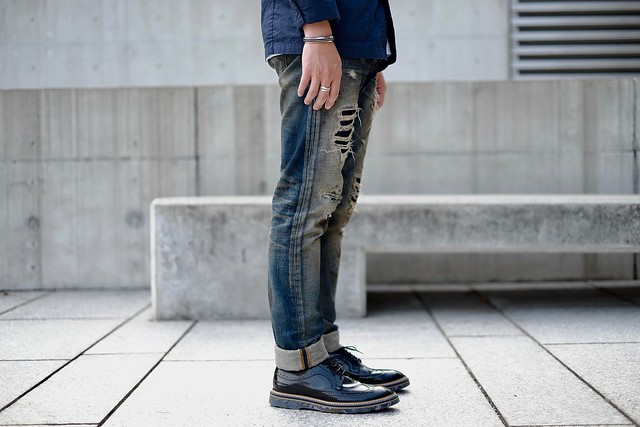 JEANSDA Flying Dutchman Southern Rock Musician Aged Jeans