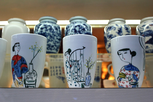 Pottery cups - Xintiandi - Shanghai