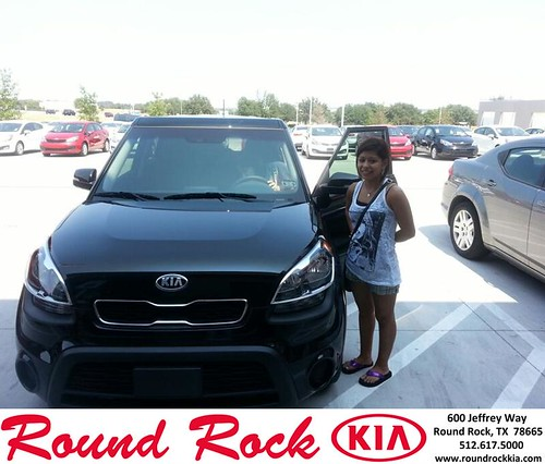 Thank you to Tiffany Saragosa on your new 2013 Kia Soul from Michael Glass and everyone at Round Rock Kia! by RoundRockKia