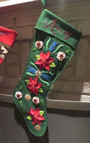 Vintage-style custom flowers stocking