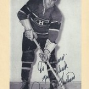 1944-63 NHL Beehive Hockey Photo / Group II - Maurice Richard (Right Wing) (Hockey Hall of Fame 1961) (b. 4 Aug 1921 - d. 27 May 2000 at age 78) - Autographed Hockey Card (Montreal Canadiens) (#284)