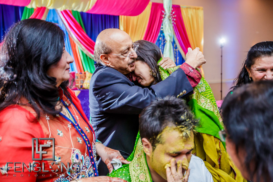 Groom's mother crying