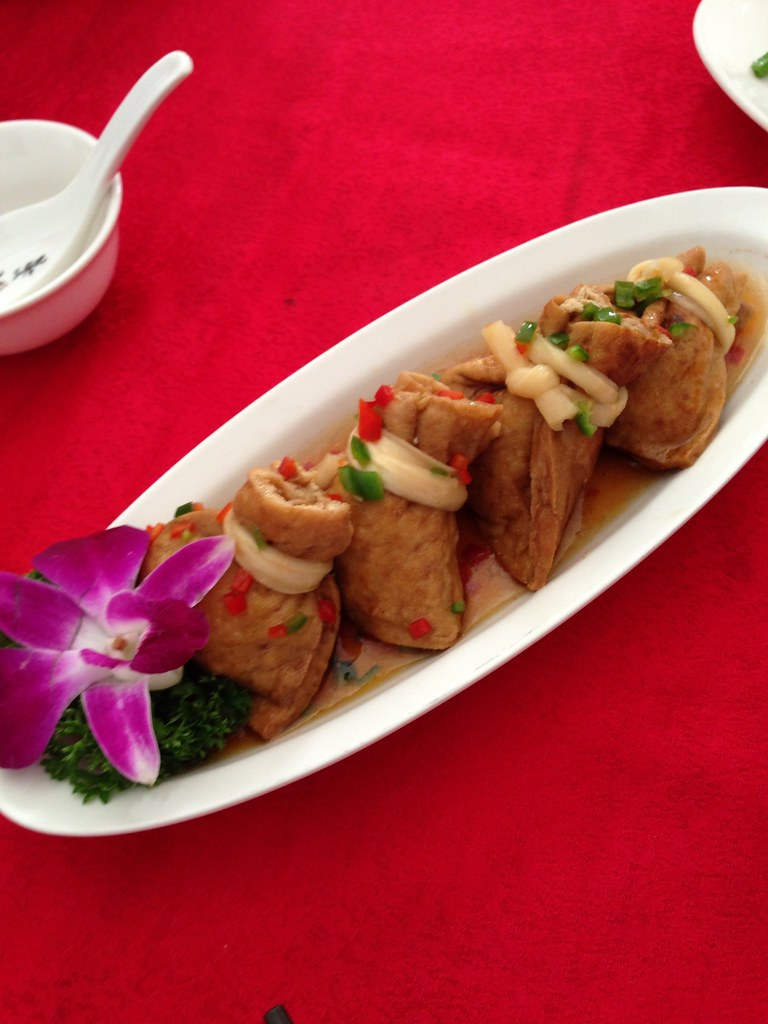 Mixed Vegetables wrapped in Beancurd Skin
