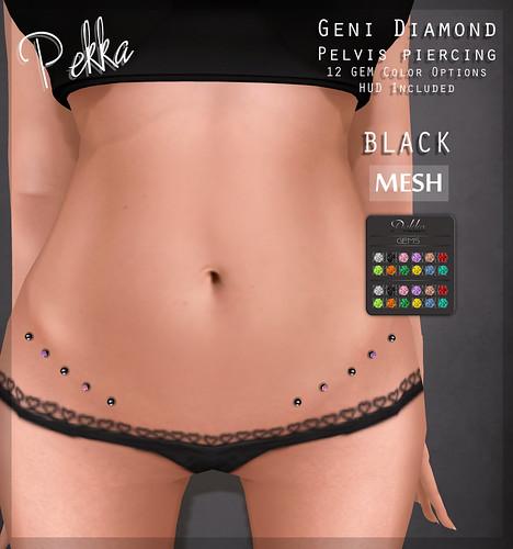 pekka geni diamond pelvis piercing black