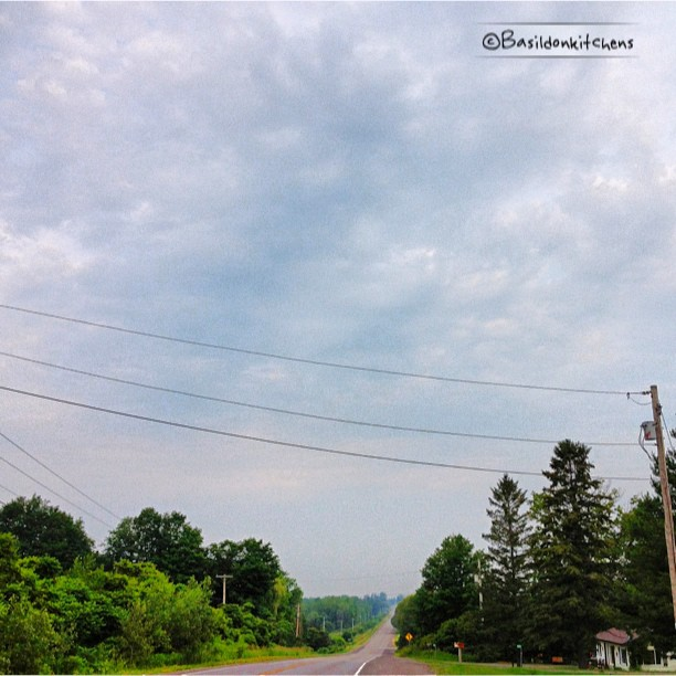June 24 - negative space {lots of overcast sky on my morning commute} #fmsphotoaday #negativespace #princeedwardcounty #commute #ctyrd1 #clouds