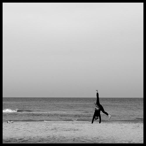 Cartwheels On The Beach by Davidap2009