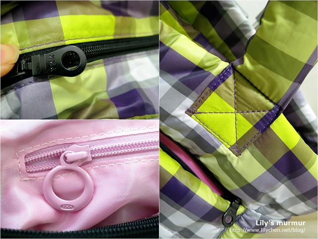 YKK鑰匙,外袋跟內袋的不一樣;提把車縫處。