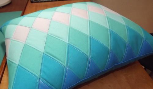 Blue Diamond Pillow