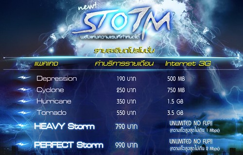 TOT 3G Storm Package