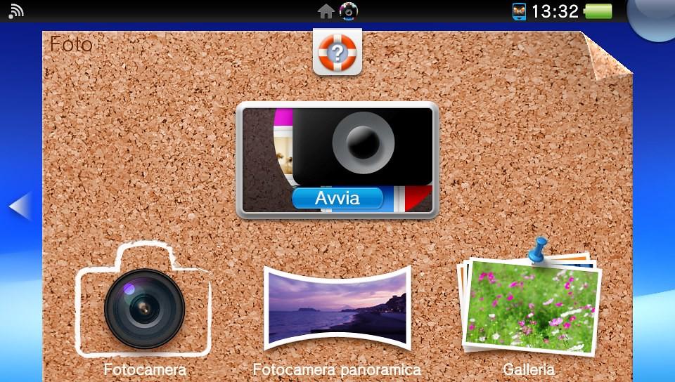 App fotocamera PS Vita con la funzione Panoramica