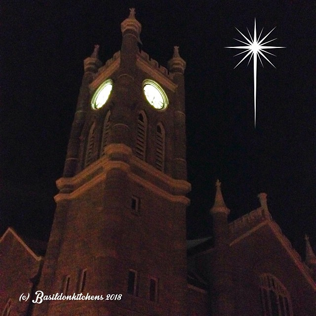 Dec 19 - bell {the United Church bell tower in Picton} #photoaday #picton #church #nightphotography #princeedwardcounty