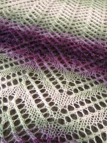 Finished Mystery Shawl 4