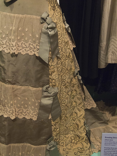 DAR Museum 1900 Evening Dress Remodeled
