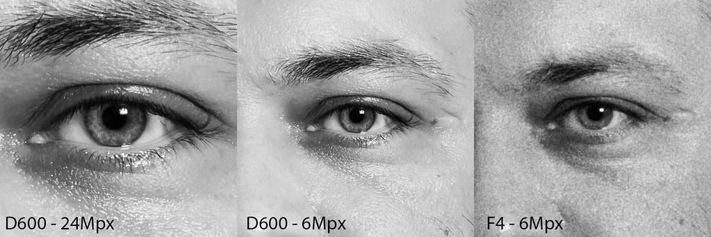 Nikon D600 vs F4 - details
