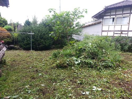 南相馬の個人宅で草刈りのお手伝い(援人 0906便)