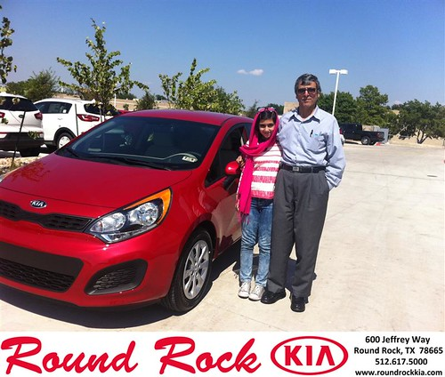 Thank you to Mahmood Saleh on the 2013 Kia Rio from Amir Mahboubi and everyone at Round Rock Kia! by RoundRockKia