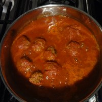 Mexican meatballs in chipotle-tomato sauce