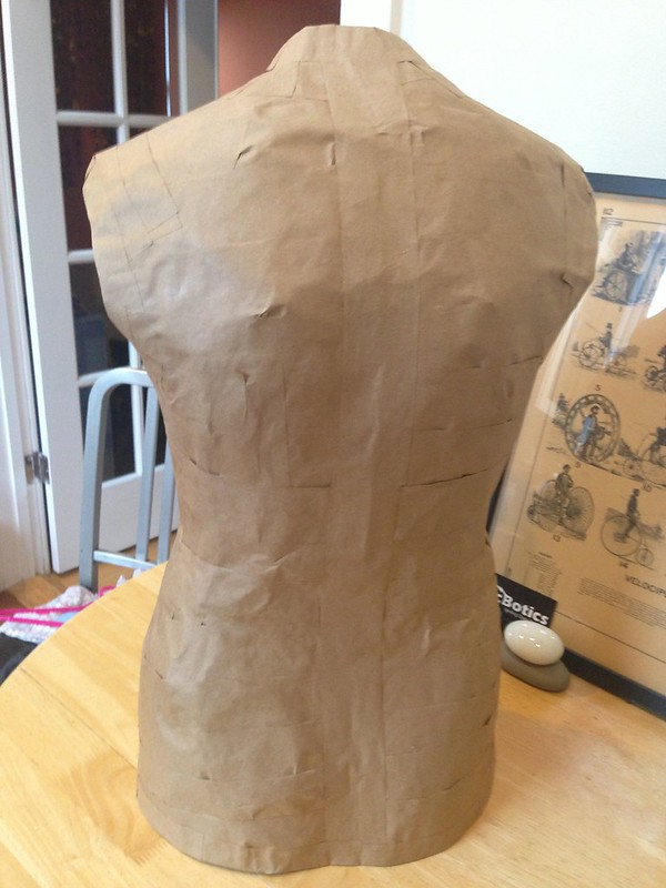Custom paper tape dress form