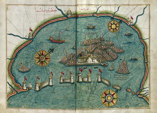 019- ciudad de Venecia- folios 185b-186a-W.658, LIBRO DE NAVEGACIÓN -The Digital Walters