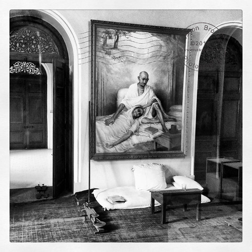 Ghandi's Final Resting place.